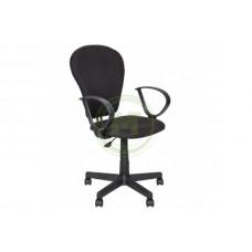 Офисное кресло AV 208 PL ткань серая с черной ниткой