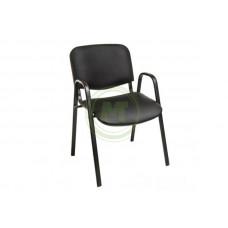 Офисный стул Визо (к/з черный, каркас черный)