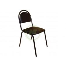 Офисный стул Стандарт АМ 1001 (к/з черный, каркас черный)