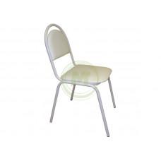 Офисный стул Стандарт АМ 1001 (к/з белый, каркас белый)